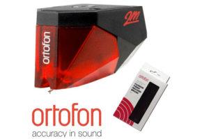 Ortofon 2M Red + Ortofon Carbon Fiber Record brush
