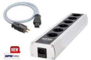 Set obsahuje. SUPRA MD06-EU Mk3.1 sieťový rozvádzací blok + SUPRA LoRad 2.5 CS–EU magneticky tienený sieťový kábel s prierezom 3×2,5mm2