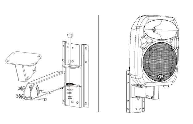 """Wharfedale WPB-1 nástenný držiak -univerzálny a bezpečný držiak určený pre Wharfedale Titan 12"""" a Titan 15"""""""