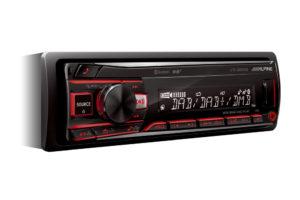 Alpine-UTE-204DAB - autorádio bez CD mechaniky, s DAB+ tunerom, Bluetooth a výkonom 4x50W