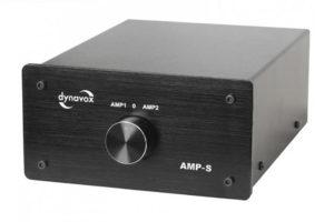 Dynavox_AMP_S - šikovný prepínač reproduktorov / zosilňovačov