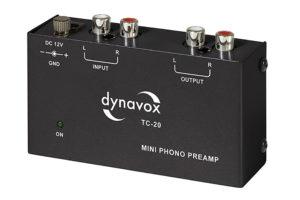 Dynavox_Phono_MM_preamp_TC_20 - kompaktný Phono MM predzosilňovač pre gramofón