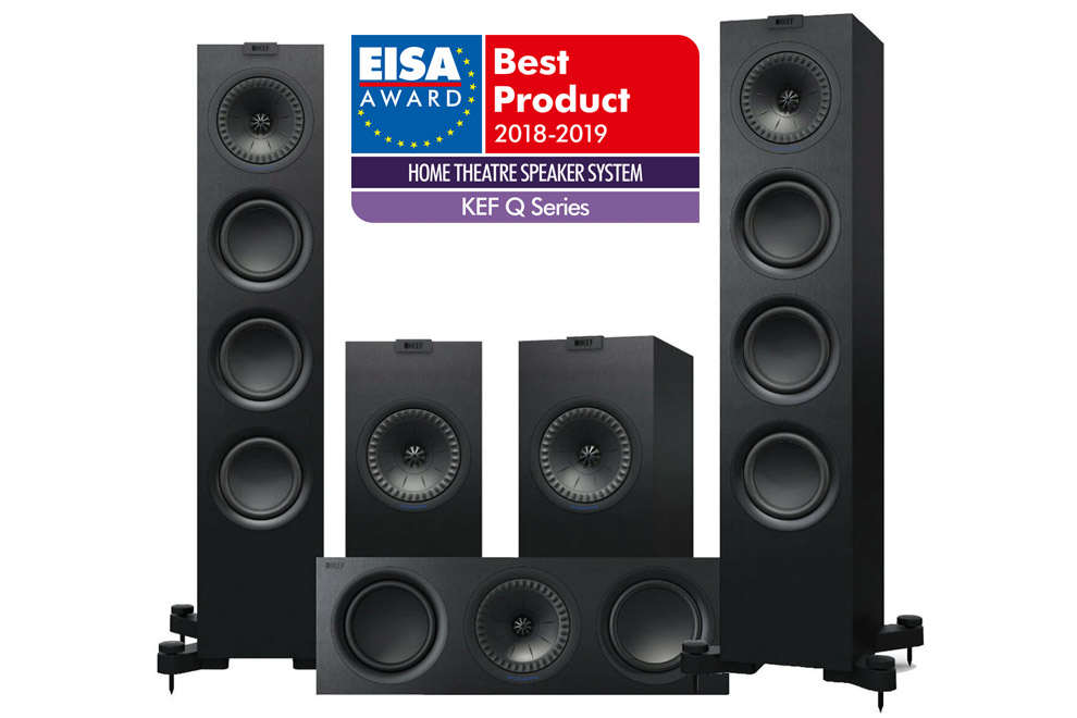 KEF-Q_5-0_Set_2 - sada reproduktorov domáceho kina pozostávajúca zo série Q ocenená prestížnou cenou EISA Awards