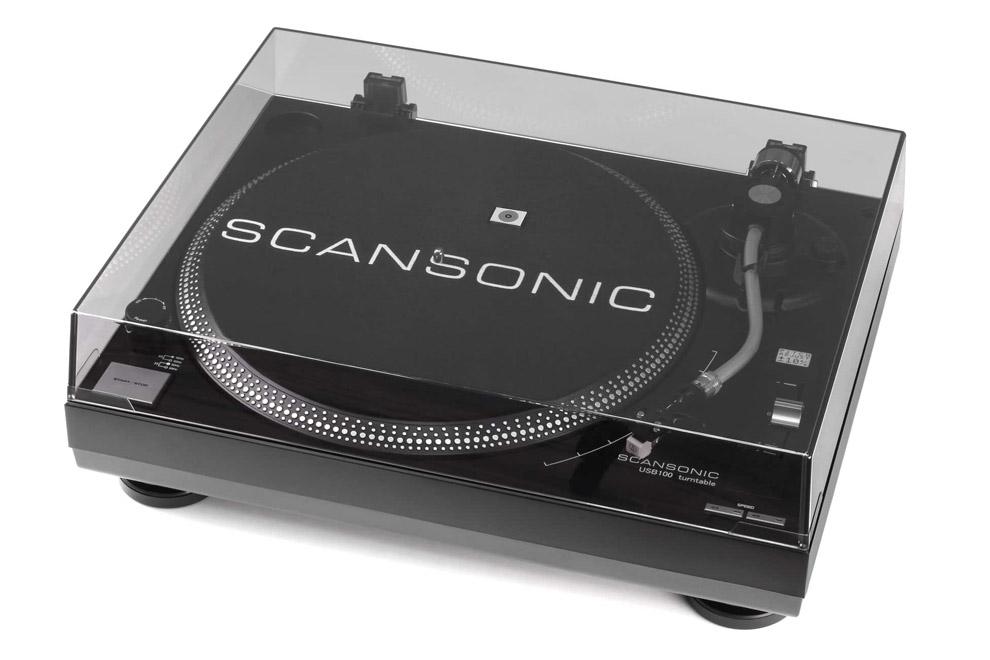 Scansonic-USB100 - manuálny gramofón s priamym náhonom a USB výstupom