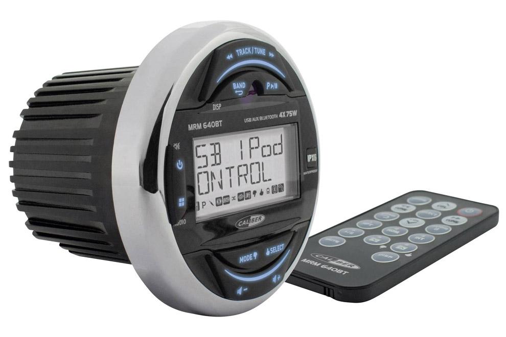 Caliber-MRM640BT - vodeodolné Bluetooth rádio vhodné pre lode, jachty, sauny, terasy, sprchy