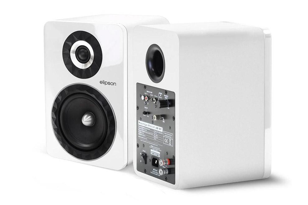 Elipson-Prestige-Facet-6B-BT - aktívne 2-pásmové Bluetooth regálové reproduktory s integrovaným zosilňovačom triedy D s výkonom 2x70W