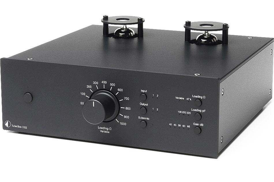 Gramofónový dual mono MM/MC predzosilňovač Pro-Ject Tube Box DS2